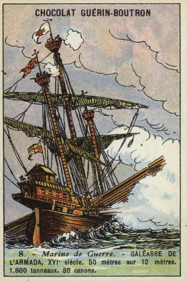 Galleass of the Spanish Armada, 16th Century--Giclee Print