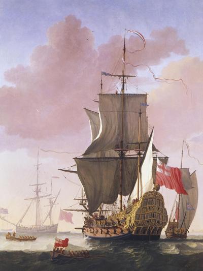 Galleon in Full Sail-Jan Karel Donatus Van Beecq-Giclee Print