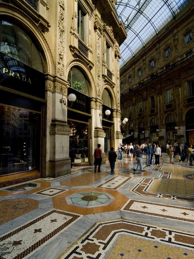Galleria Vittorio Emanuele Ii, Milan, Lombardy, Italy, Europe-Charles Bowman-Photographic Print