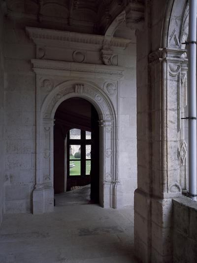 Gallery Courtyard of Chateau De La Rochefoucauld, Poitou-Charentes, Detail, France, 16th Century--Giclee Print
