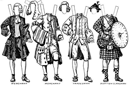 'Gallery of Historic Costume: What People Wore in Early Georgian Days', c1934-Unknown-Giclee Print