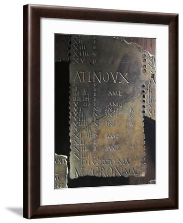 "Gallic Lunar Calendar, Each Month Bears the Sign ""Atinoux""--Framed Giclee Print"