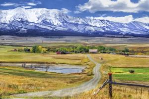 Montana Farm (Watercolor) by Galloimages Online