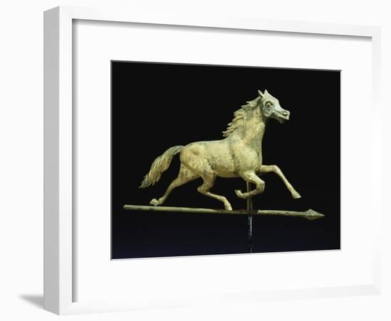 Galloping Horse Weathervane, Circa 1890-John Bachman-Framed Giclee Print