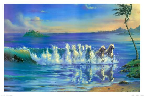 Galloping Waves-Jim Warren-Art Print