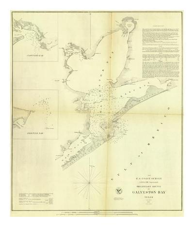 Galveston Bay, Texas, c.1852--Art Print