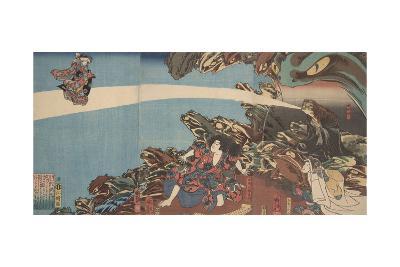 Gama Sennin's Animus (From the Series Ibaraki No Keshi)-Utagawa Kuniyoshi-Giclee Print