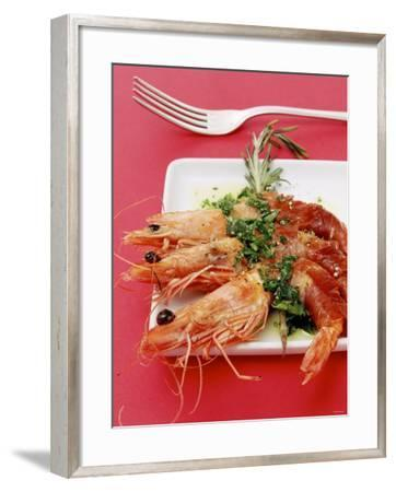 Gamberi in Coperta (King Prawns Wrapped in Parma Ham)-Alexander Van Berge-Framed Photographic Print