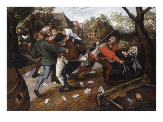 Gamblers Quarrelling-Pieter Brueghel the Younger-Giclee Print