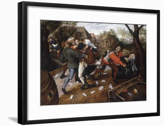 Gamblers Quarrelling-Pieter Brueghel the Younger-Framed Giclee Print
