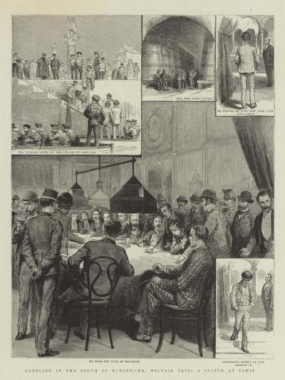 Gambling in the South of Europe, Mr Wildair Tries a System at Cadiz--Giclee Print