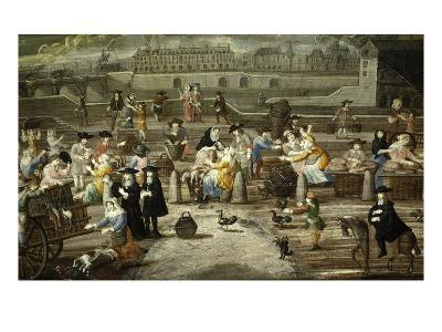 Game and Bread Market Paris by Unknown French Artist 17th Century--Giclee Print