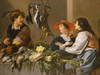 Game and Vegetable Sellers-Theodor Rombouts-Giclee Print