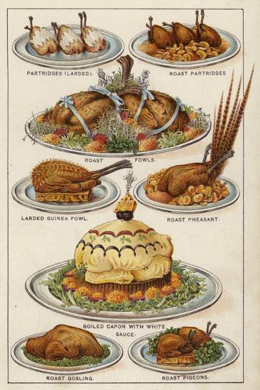 Game Dishes--Giclee Print