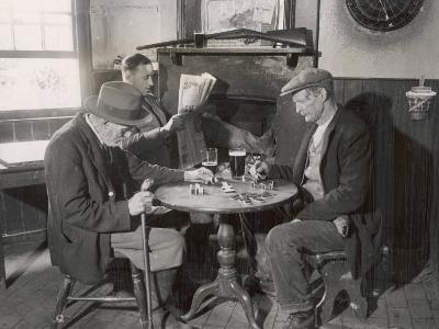 Game of Dominoes in an English Country Pub--Photographic Print