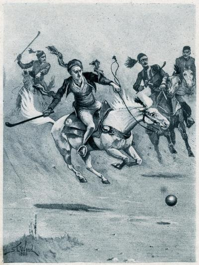 Game of Polo, 1888-Stanley L Wood-Giclee Print