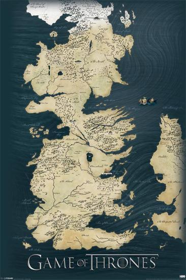 Game of Thrones-Map--Poster