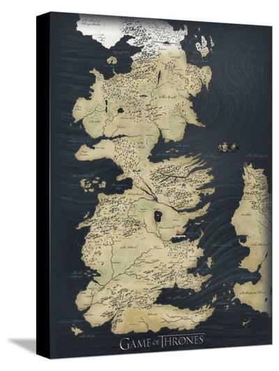 Game of Thrones Map--Stretched Canvas Print