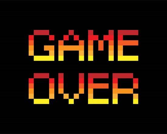 Game Over - Red-Color Me Happy-Art Print