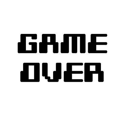 Game Over - White-Color Me Happy-Art Print