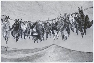 Game Shot Hanging from the Line--Giclee Print