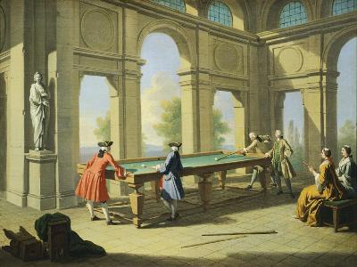 Games, Pool Table, 1751-1752-Giuseppe Zocchi-Giclee Print