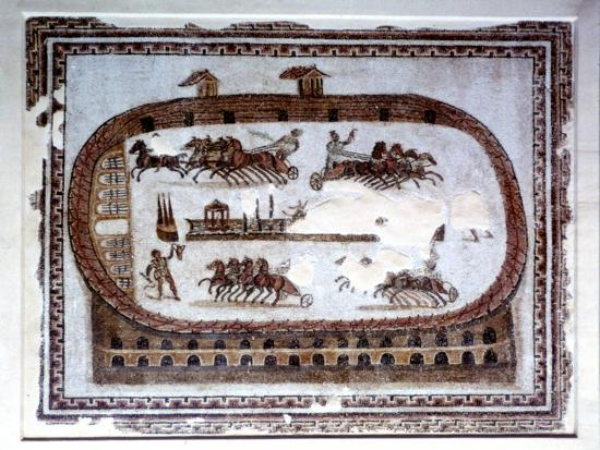 Games, Roman mosaic from Carthage, 2nd century AD. Artist: Unknown-Unknown-Giclee Print