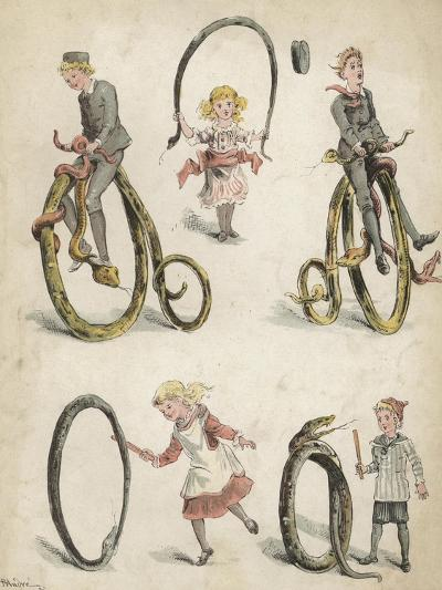 Games with Snakes-Richard Andre-Giclee Print