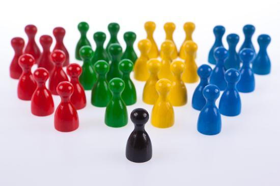 Gaming Pieces in Colour Formations and Single Token, Symbolism-Catharina Lux-Photographic Print