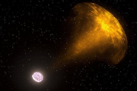 Gamma Ray Burst from Colliding Neutron Stars--Photographic Print