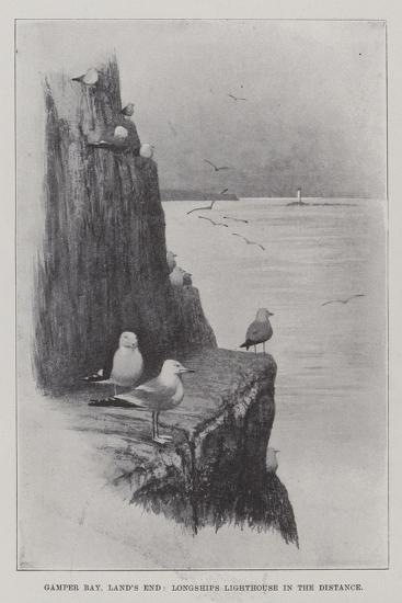 Gamper Bay, Land's End, Longships Lighthouse in the Distance--Giclee Print