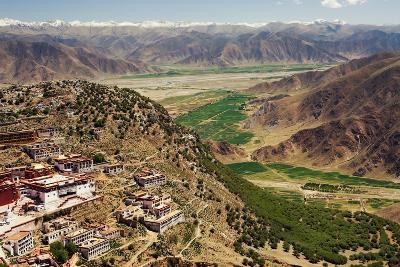 Ganden Monastery, Wangbur Mountain, Tibet-Alex Linghorn-Photographic Print