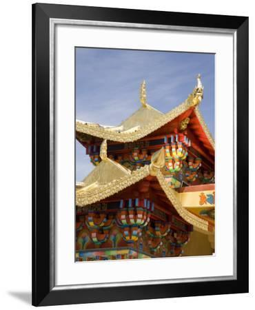 Ganden Sumsteling Gompa Buddhist Monastery, Shangri-La, Shangri-La Region, Yunnan Province, China-Angelo Cavalli-Framed Photographic Print