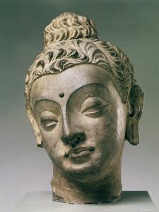 Gandharan Style Lime Plaster Buddha, 4th Century