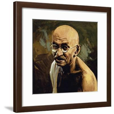Gandhi Was known as Mahatma, or Great Soul--Framed Giclee Print