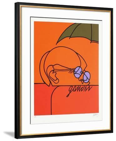 Gandhi-Valerio Adami-Framed Premium Edition