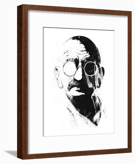 Gandhi-Alex Cherry-Framed Art Print