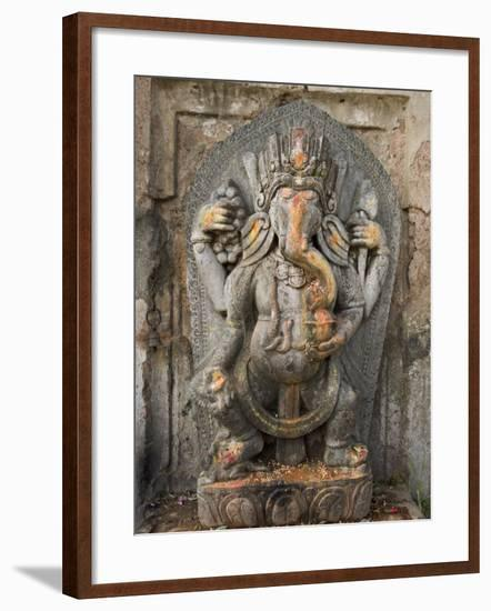 Ganesh Stone Statue, Son of Shiva and Parvati.-Don Smith-Framed Photographic Print