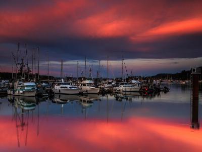 Ganges Harbor Sunset-Shawn/Corinne Severn-Photographic Print