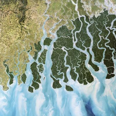 Ganges River Delta, India-PLANETOBSERVER-Photographic Print