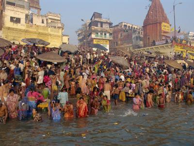 Ganges River, Makar San Kranti, Varanasi, Uttar Pradesh State, India-Gavin Hellier-Photographic Print