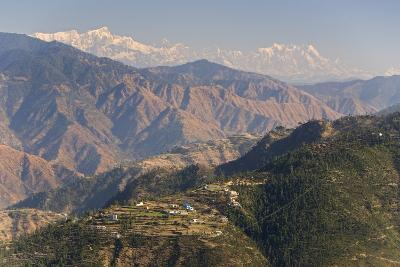 Gangotri Mountains, Garwhal Himalaya, Seen from Mussoorie Hill Station, Uttarakhand, India, Asia-Tony Waltham-Photographic Print