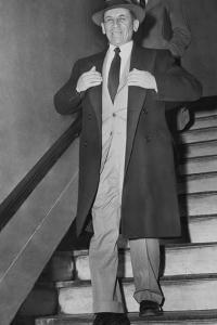 Gangster Meyer Lansky Leaving Manhattan Arrest Court on Feb