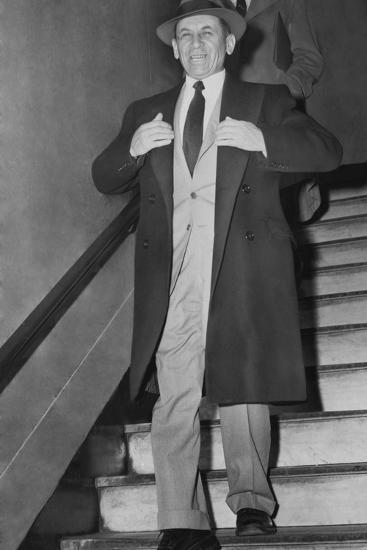 Gangster Meyer Lansky Leaving Manhattan Arrest Court on Feb--Photo
