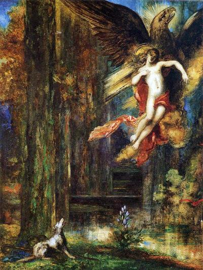 Ganymede, 1886 (W/C and Gouache on Paper)-Gustave Moreau-Giclee Print