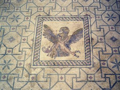 Ganymede and Eagle, Mosaic at Roman Villa of Dionysus, Paphos, Cyprus--Giclee Print