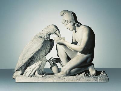 Ganymede with Eagle of Zeus-Bertel Thorvaldsen-Giclee Print