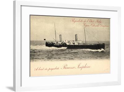 Ganzsache Belgian State Railways, Princesse Josephine--Framed Giclee Print
