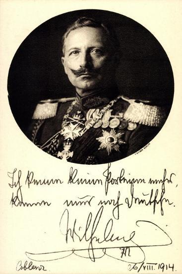 Ganzsachen Kaiser Wilhelm II, Portrait, Auszeichnungen--Giclee Print