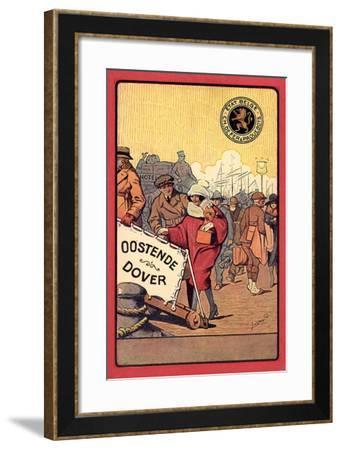 Ganzsachen Ostende, Dover, Belgian State Railways--Framed Giclee Print